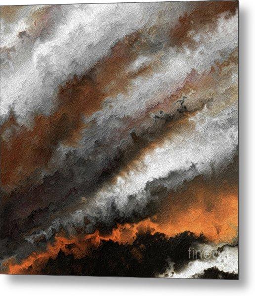 Jeremiah 20 9 Fire In My Heart Metal Print
