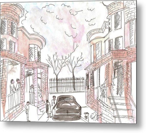 Jersey City Neighbourhood Metal Print by Remy Francis