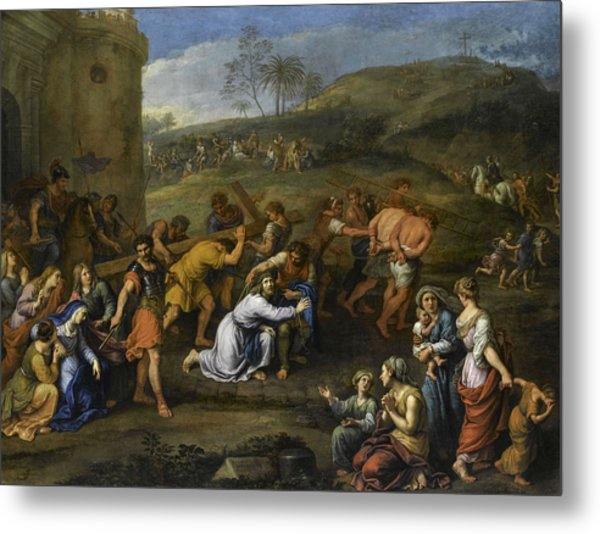 Jesus On The Road To Calvary, 1684 Metal Print