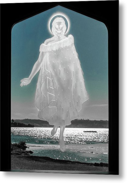 Metal Print featuring the photograph Jesus Walks On The Water by Mark Dodd