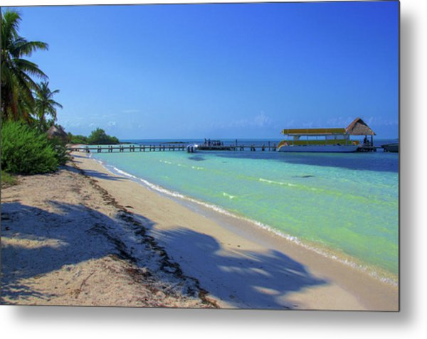 Jetty On Isla Contoy Metal Print