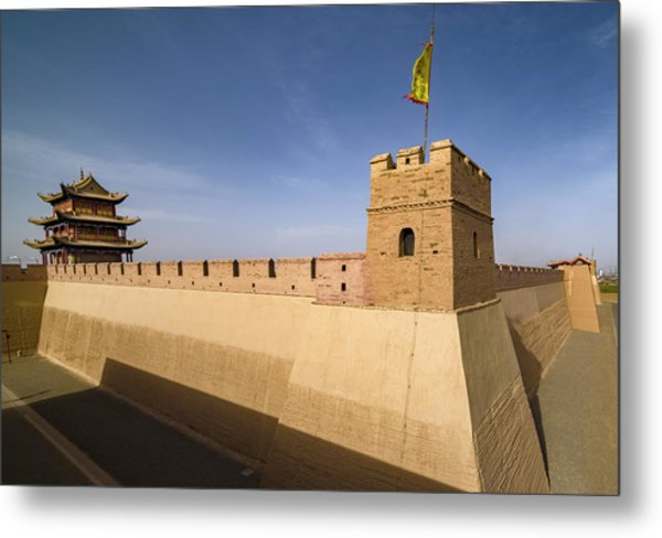 Jiayuguan Pass Western Great Wall Jiayuguan Gansu China Metal Print