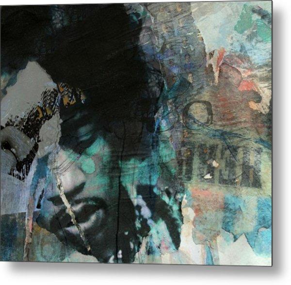 Jimi Hendrix Collage Metal Print