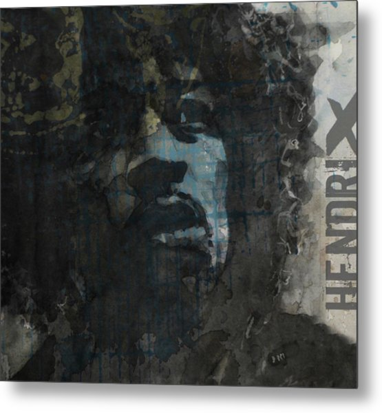 Jimi Hendrix - Retro Series Metal Print