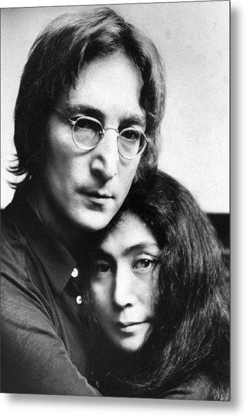John Lennon And Yoko Ono Metal Print