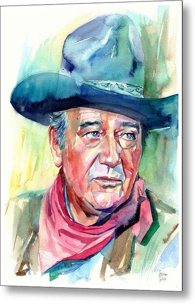 John Wayne Portrait Metal Print