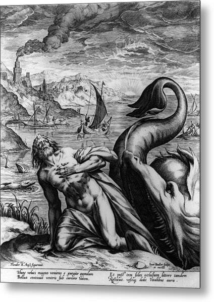 Jonah And Whale Metal Print by Hulton Archive