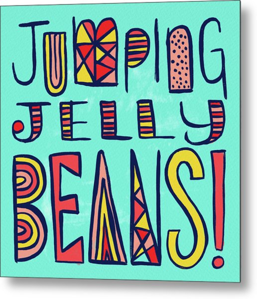 Jumping Jelly Beans Metal Print