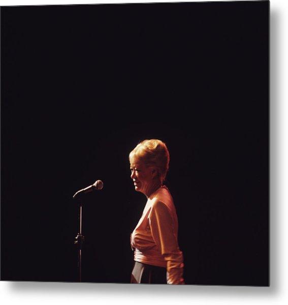 June Christy Performs At Newport Metal Print by David Redfern