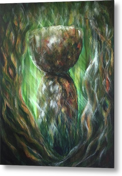 Metal Print featuring the painting Jungle Latte Stone by Michelle Pier