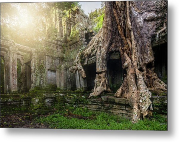 Metal Print featuring the photograph Jungle Temple 2 by Nicole Young
