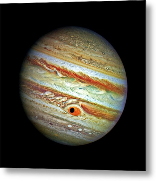 Metal Print featuring the photograph Jupiter And Ganymead Shadow Outer Space Image by Bill Swartwout Fine Art Photography