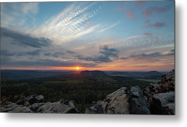Metal Print featuring the photograph Just Before Sundown by Andreas Levi