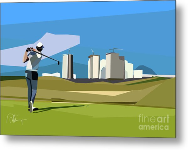 Justin Rose In Rio  Metal Print