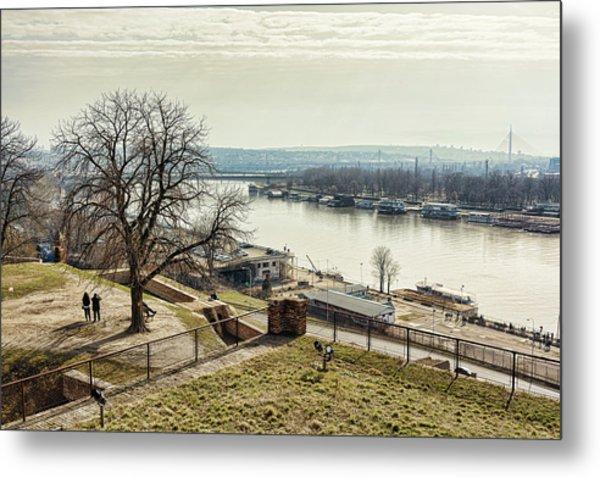 Kalemegdan Park Fortress In Belgrade Metal Print