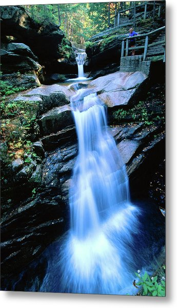 Kancamagus Highway Sabbaday Falls, New Metal Print by John Elk Iii