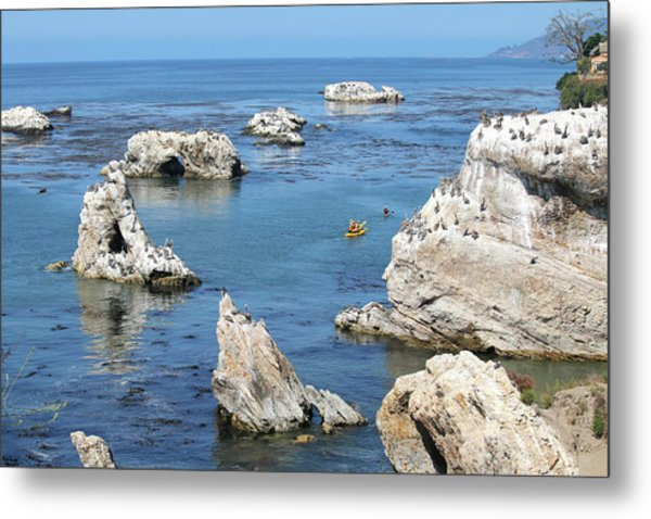 Kayaking At Shell Beach Metal Print