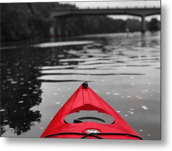 Kayaking The Occoquan Metal Print