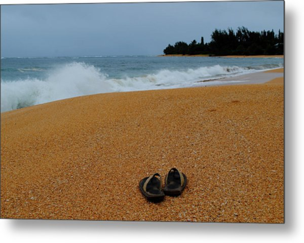 Ke'e Beach Metal Print