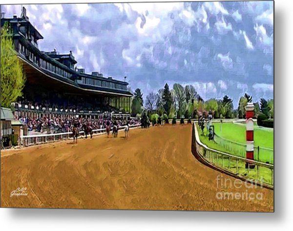 Keeneland The Stretch Metal Print