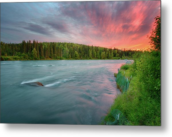 Kenai River Alaska Sunset Metal Print