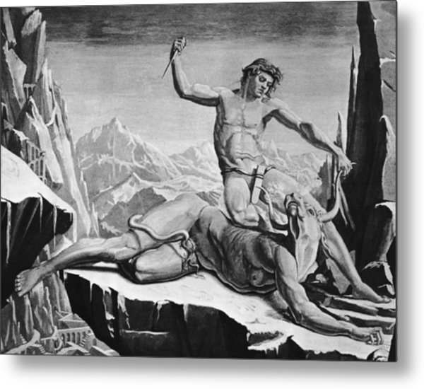 Killing The Minotaur Metal Print by Hulton Archive
