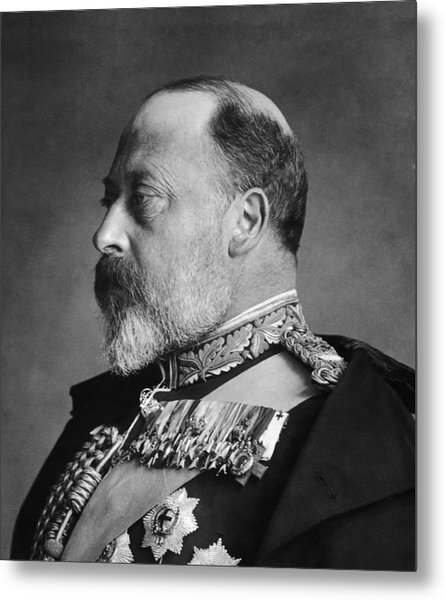 King Edward Vii Metal Print by General Photographic Agency