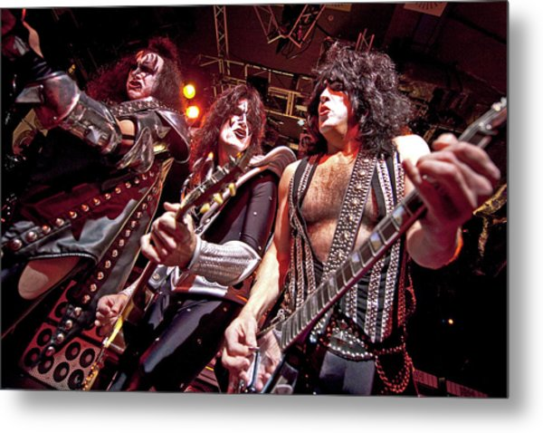 Kiss Perform At The O2 Islington Metal Print by Neil Lupin