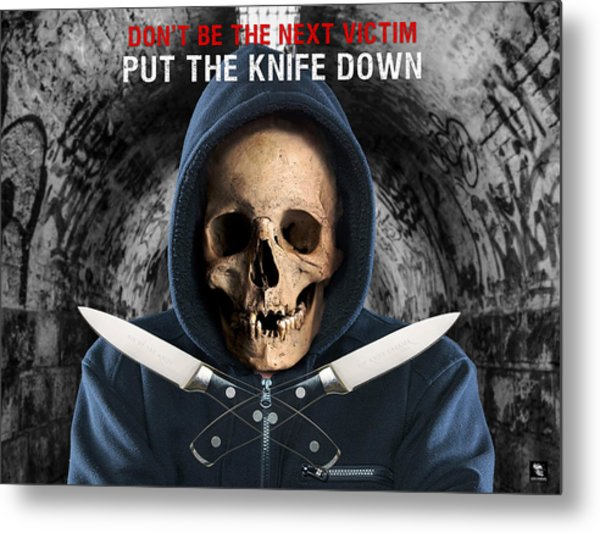Metal Print featuring the digital art Knife Crime Part 2 - The Next Victim by ISAW Company