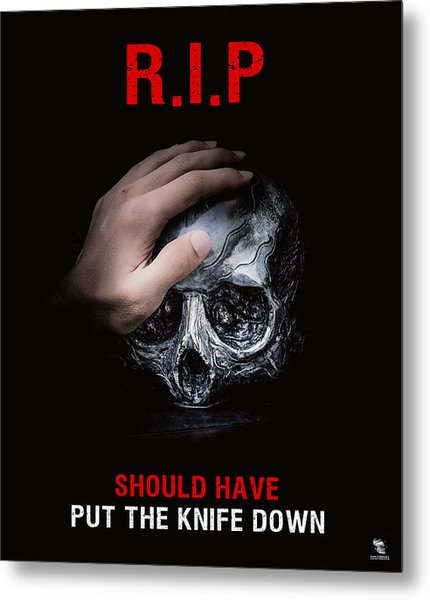 Metal Print featuring the digital art Knife Crime Part 3 - Rest In Peace by ISAW Company