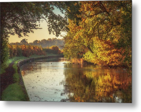 Knowle Canals No 3 Metal Print