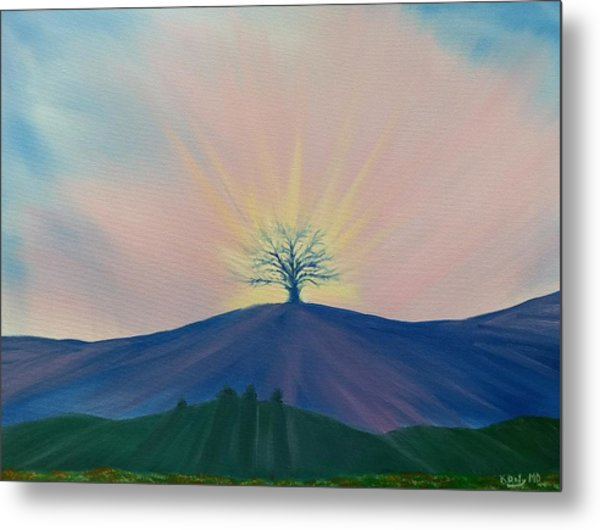 Metal Print featuring the painting Komorebi by Kevin Daly