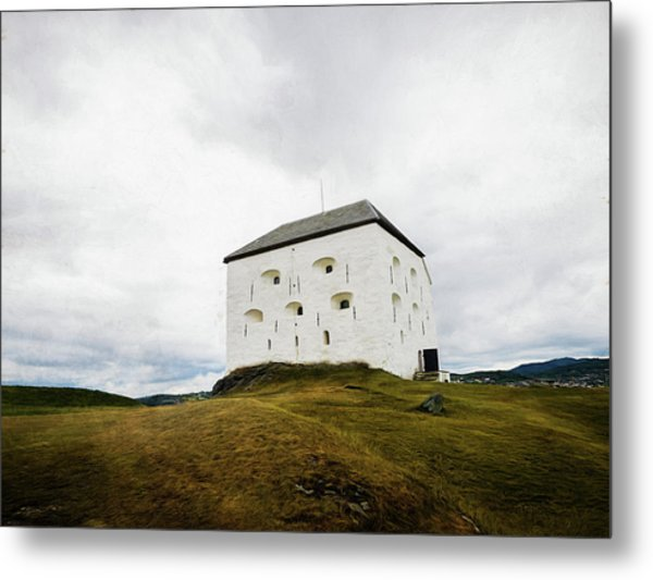 Metal Print featuring the photograph Kristiansten Fortress In Trondheim, Norway by Whitney Leigh Carlson