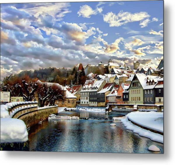 Kronach Winter Scene Metal Print