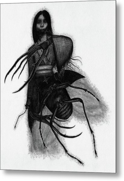Kuchisake-onna The Slit Mouthed Woman Ghost - Artwork Metal Print