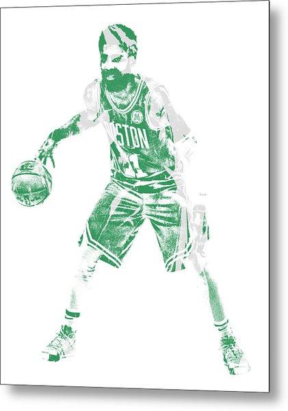 Kyrie Irving Boston Celtics Pixel Art 72 Metal Print