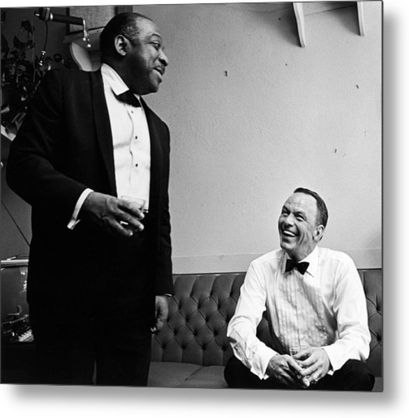 L-r Count Basie And Frank Sinatra Metal Print by John Dominis