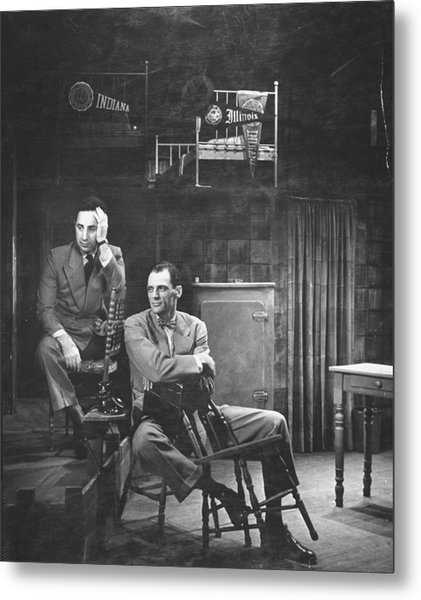 L-r Director Elia Kazan And Playwright Metal Print by W. Eugene Smith