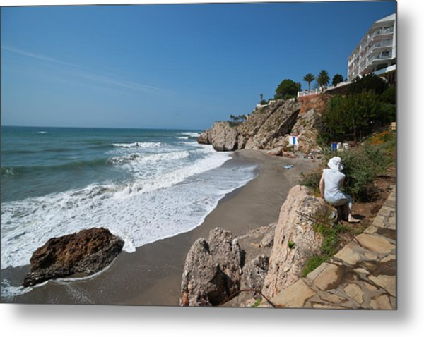 La Caletilla Beach Metal Print