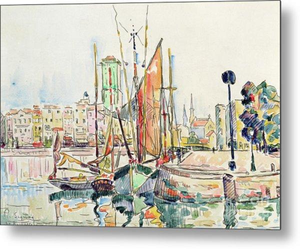 La Rochelle Boats And Houses Metal Print