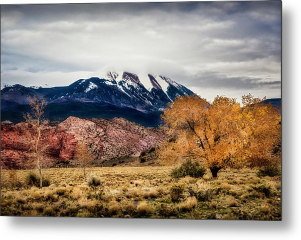 Metal Print featuring the photograph La Sal Mountain Range by David Morefield