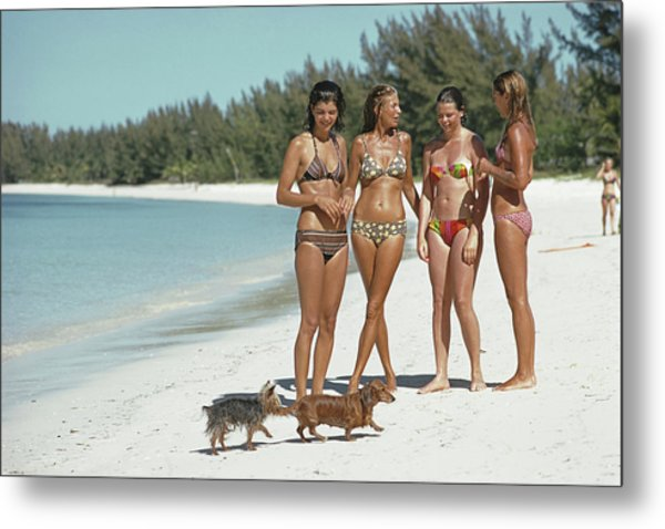Ladies Of Lyford Cay Metal Print by Slim Aarons