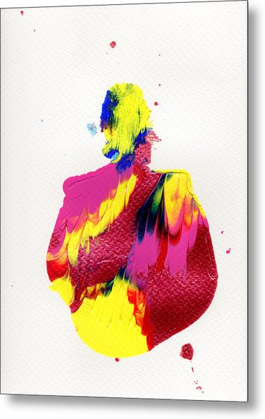 Lady Dressed In A Ballroom Gown Metal Print