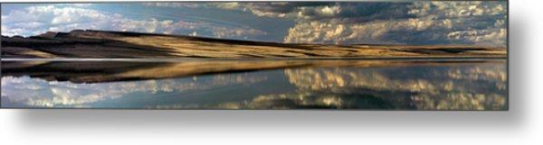 Lake Abert Panoramic Metal Print by Leland D Howard