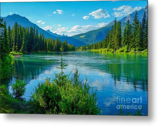Lake At Banff Indian Trading Post Metal Print