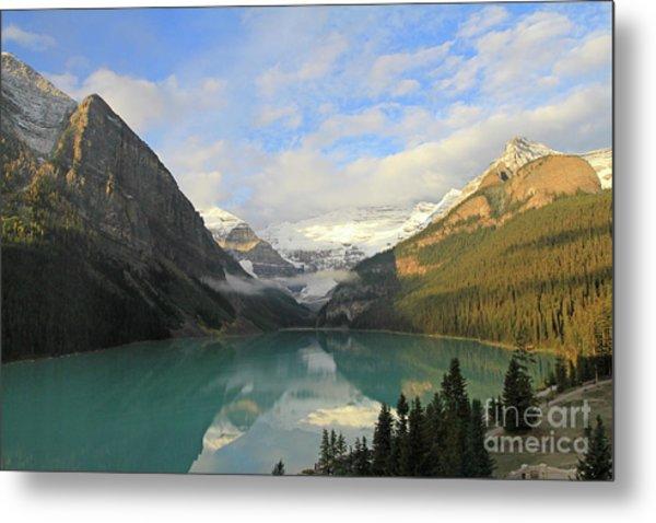 Lake Louise At Dawn Metal Print