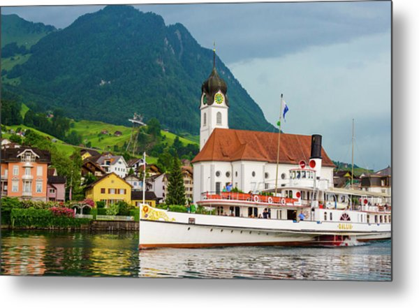 Lake Lucerne Steamer Metal Print
