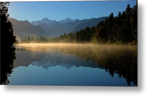 Lake Matheson Morning Metal Print