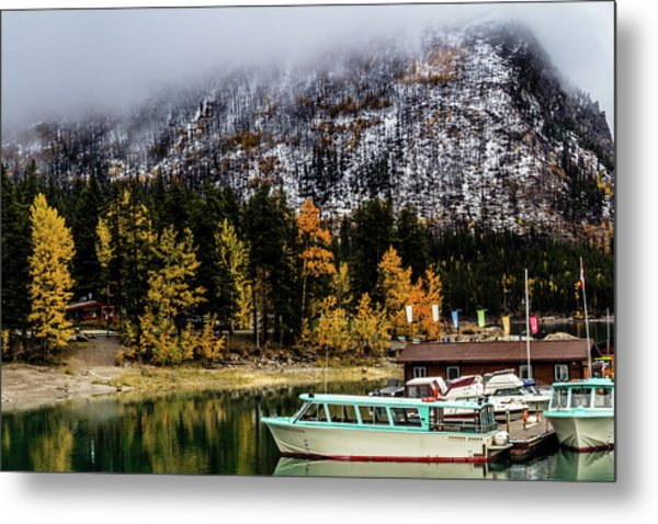 Lake Minnewanka, Banff National Park, Alberta, Canada Metal Print