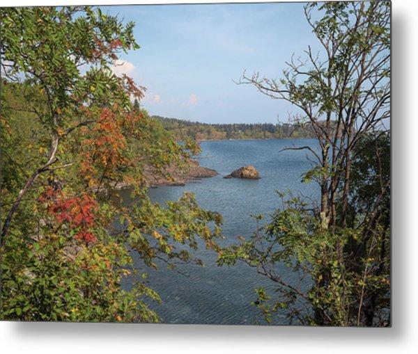 Lake Superior Autumn Metal Print